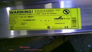 COOPER B-LINE 4A-24-90HB12 REDI RAIL CABLE TRAY, LADDER ...